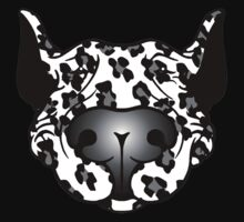 Bull Terrier Leopard Cow Kids Tee