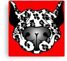 Bull Terrier Leopard Cow Canvas Print