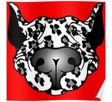 Bull Terrier Leopard Cow Poster