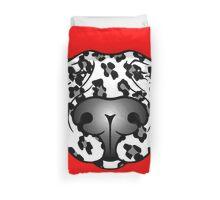 Bull Terrier Leopard Cow Duvet Cover