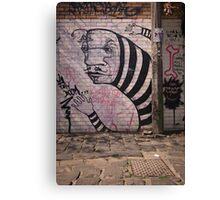 Stripey Graffiti Canvas Print