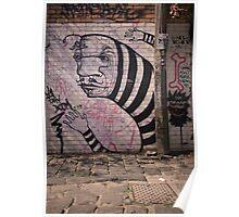 Stripey Graffiti Poster