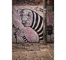 Stripey Graffiti Photographic Print