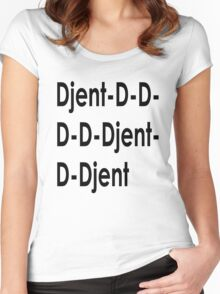 Funny Djent Music Design Women's Fitted Scoop T-Shirt