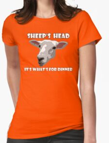 Sheep Head. It's What's For Dinner Womens Fitted T-Shirt