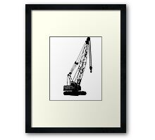 black crane Framed Print