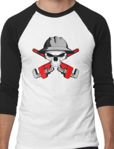 Roughneck Skull and Crossed Wrenches Men's Baseball ¾ T-Shirt