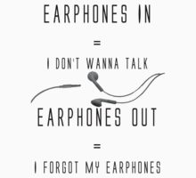 Funny Music Earphones Quote by musicdjc