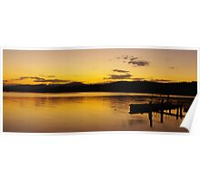 Clyde River Sunset Poster
