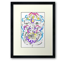 Retro-Psychedelic Flowers Framed Print