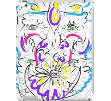 Retro-Psychedelic Flowers iPad Case/Skin