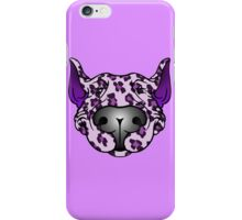 Bull Terrier Leopard Pink and Purple iPhone Case/Skin