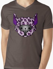 Bull Terrier Leopard Pink and Purple Mens V-Neck T-Shirt