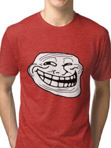 Troll Face Tri-blend T-Shirt