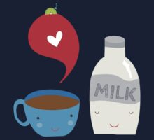 Coffee loves milk Kids Tee