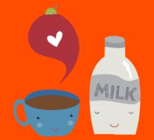 Coffee loves milk Kids Clothes
