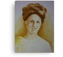 Vintage Lady Portrait Canvas Print