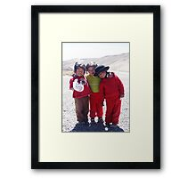 3 Little Incas Framed Print