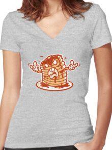 Mr Pancakez Women's Fitted V-Neck T-Shirt