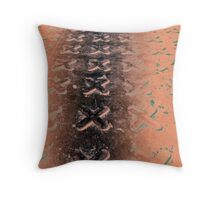No O's - Negative in Copper Throw Pillow