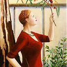 Crimson Rosella, oil on canvas, 2006. by fiona vermeeren