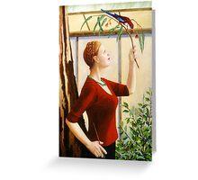 Crimson Rosella, oil on canvas, 2006. Greeting Card
