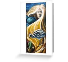 The life of my hair, oil on canvas, 2004. Greeting Card