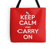 Keep Calm Carry On Reds Tote Bag
