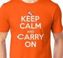 Keep Calm Carry On Reds Unisex T-Shirt