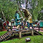 Robin Hood vs Little John by Ryan Davison Crisp