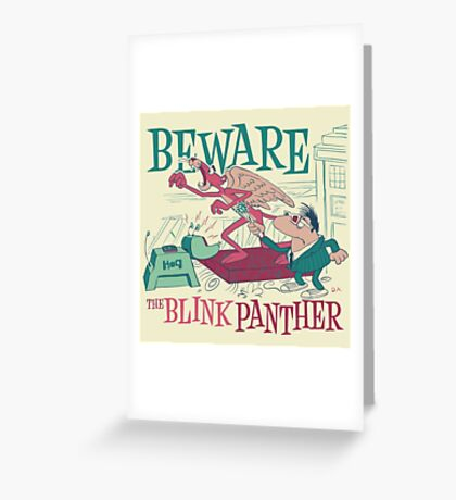 The Blink Panther Greeting Card