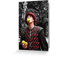 The Juggler Greeting Card