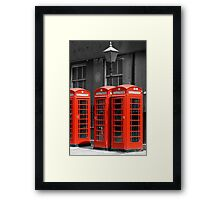 Red Telephone boxes in London Framed Print