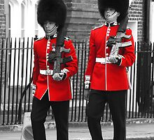 Guardsmen marching in London by Chris L Smith