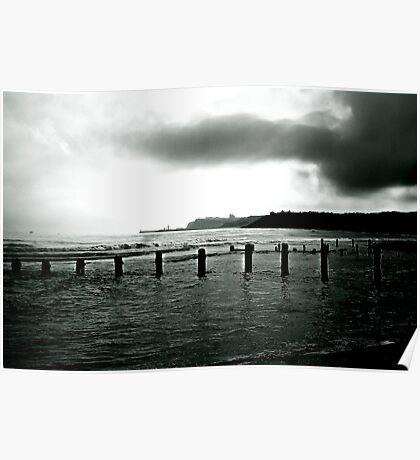 Looking Across Sandsend Wyke. Poster