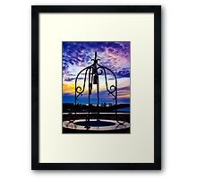 The wishing well looking over Geraldton Framed Print