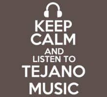 Keep calm and listen to Tejano music Kids Clothes