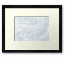 Suminagashi Love, Pale Blue Framed Print