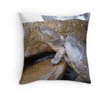Sneaking Turtle Throw Pillow