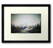 A Dreamscape -Impressionistic Garden Framed Print