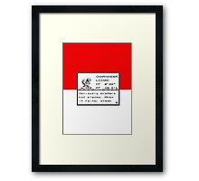 No. 004 Charmander Entry Framed Print