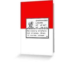 No. 004 Charmander Entry Greeting Card