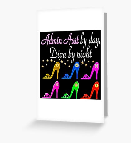 ADMIN ASSISTANCE SHOE LOVER Greeting Card