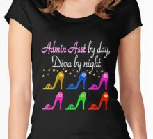 ADMIN ASSISTANCE SHOE LOVER Women's Fitted Scoop T-Shirt