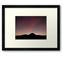 Mt. Doom Sunrise Framed Print