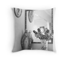 the virgin B&W Throw Pillow