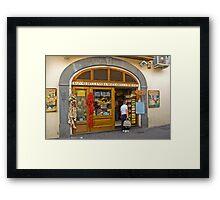 A deli, in Ischia. Framed Print