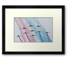Red Arrows at Southport Framed Print