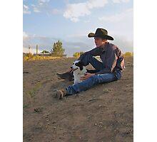Rancher's Best Friend Photographic Print