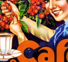 Campanha Da Boa Bebida Coffee Vintage Ad Poster Sticker